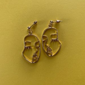 Picasso Inspired Face Earrings